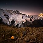 Alpenglow on Mt Cook by bonsta