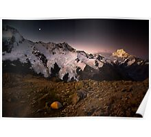 Alpenglow on Mt Cook Poster