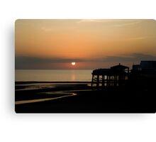 Blackpool Sunset Canvas Print