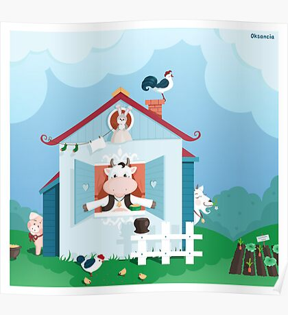 Happy Farm Poster
