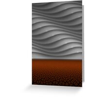 Parched earth Greeting Card