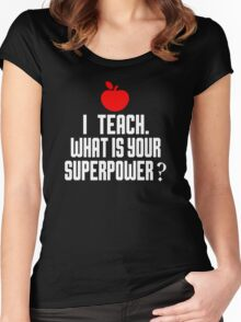 I'M A TEACH. WHAT IS YOUR SUPERPOWER? Women's Fitted Scoop T-Shirt