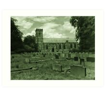 St Mary Church - Sledmere - East Yorks Art Print