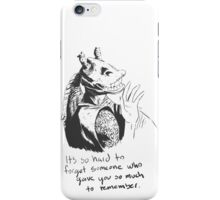 It's Hard to Forget iPhone Case/Skin