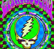 Grateful Dead Steal Your Face #9 Optical Illusion by Connor Purcell