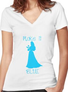 Make it BLUE Women's Fitted V-Neck T-Shirt