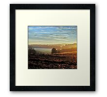 Early Rays Framed Print