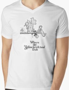 Where The Yellow Brick Road Ends Mens V-Neck T-Shirt