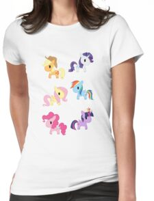 Mane 6 Chibis Womens Fitted T-Shirt