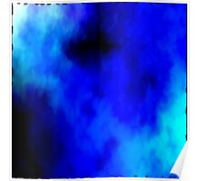 Abstract Blue Fire Storm 7 Poster