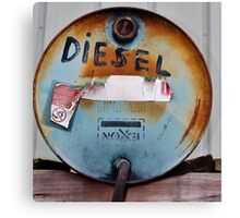 Old Exxon Drum Canvas Print