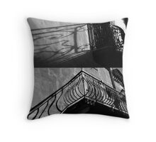 Balcony Diptych Throw Pillow