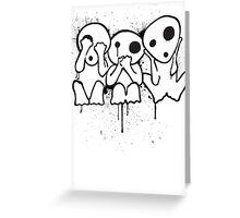 Kodama (Tree Spirits) Greeting Card