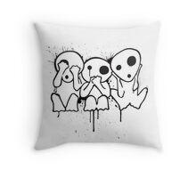 Kodama (Tree Spirits) Throw Pillow