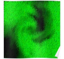 Green Abstract Texture 2 Poster