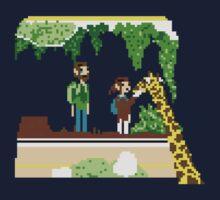 The Last Of Us Demastered - Ellie & The Giraffe by Christian Geldart