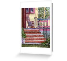 Porch with Basket Greeting Card