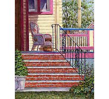 Porch with Basket Photographic Print