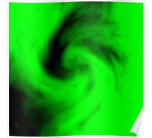 Abstract Green Swirl 10 Poster