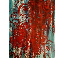 Abstract Blue And Red Photographic Print