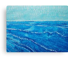 Japanese Waves original painting Canvas Print
