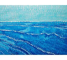 Japanese Waves original painting Photographic Print