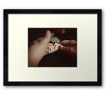 The Peek - Poker Room Art #1 Framed Print