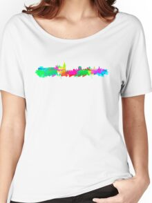 Dublin Skyline in water colours Women's Relaxed Fit T-Shirt