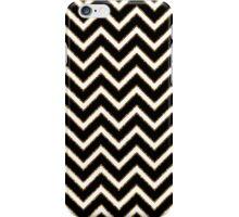 Black white gold faux glitter chevron pattern  iPhone Case/Skin