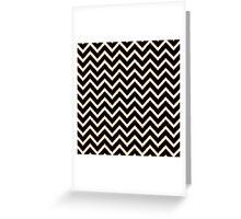 Black white gold faux glitter chevron pattern  Greeting Card