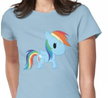 Chibi Rainbowdash Womens Fitted T-Shirt