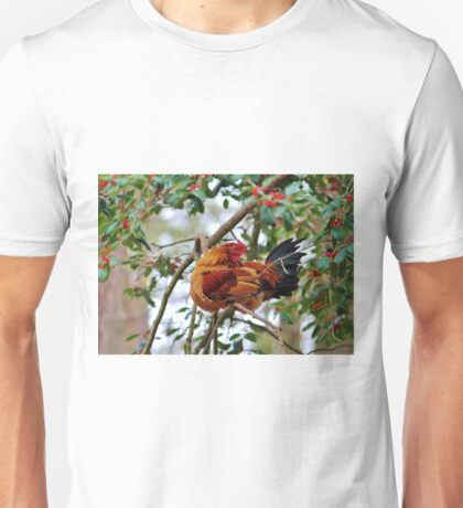 Rooster In A Tree Unisex T-Shirt