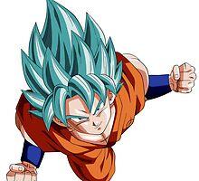 SSJ God Goku Blue Hair by Timanator3000