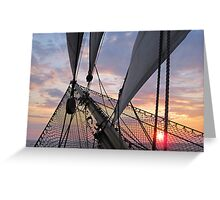 Evening Light on the Bowsprit Greeting Card
