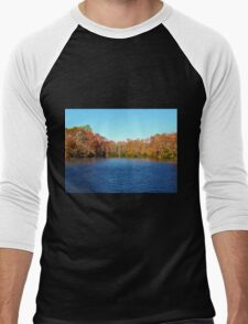 Beautiful Lake Men's Baseball ¾ T-Shirt
