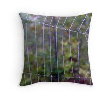 Behind Natures Bars Throw Pillow