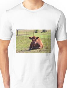 Brown Moo Moo Unisex T-Shirt