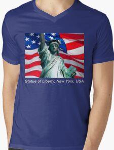 Statue of Liberty, New York, USA Mens V-Neck T-Shirt