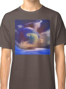 Misty blue- abstract  Art + Products Design  Classic T-Shirt