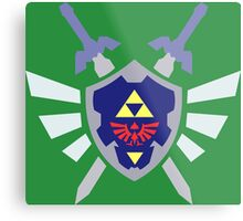 The hero of time, Link's shield Metal Print
