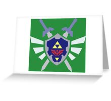 The hero of time, Link's shield Greeting Card