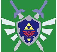 The hero of time, Link's shield Photographic Print