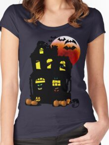 Halloween Mansion Women's Fitted Scoop T-Shirt