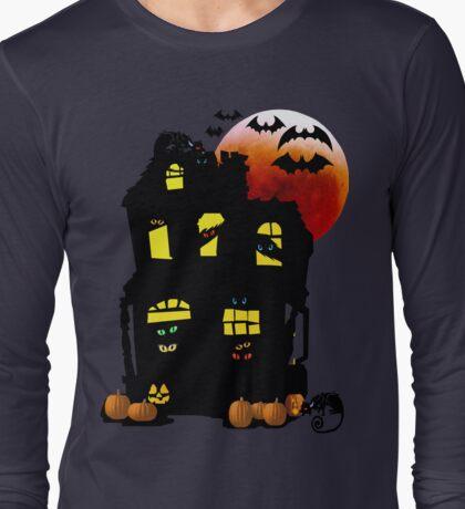 Halloween Mansion Long Sleeve T-Shirt