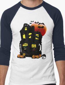 Halloween Mansion Men's Baseball ¾ T-Shirt
