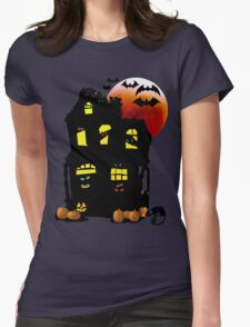 Halloween Mansion Womens Fitted T-Shirt
