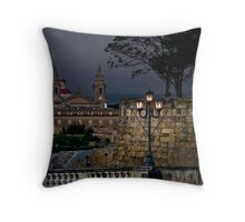 Dusk in Floriana Malta  Throw Pillow