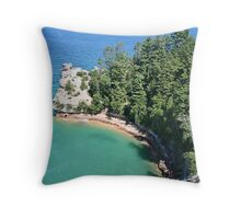 """Pictured Rocks """"Miners Castle"""" Throw Pillow"""