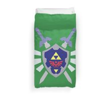 The hero of time, Link's shield Duvet Cover