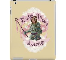 Girly means strong (yellow variant) iPad Case/Skin